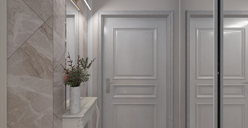 Студия 164в 27м2 Interior Design Render