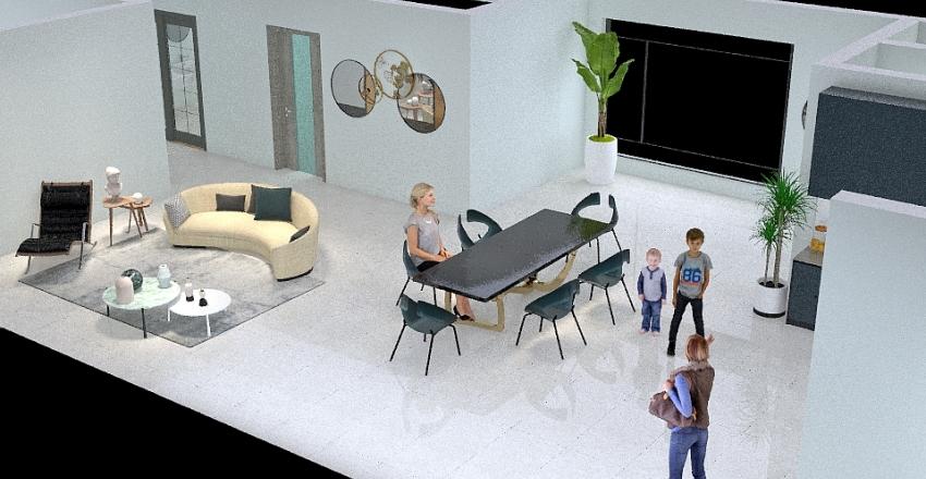Casa Autosostenible Interior Design Render