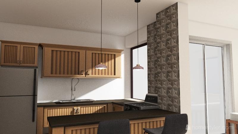 copy banheiro escuro Interior Design Render