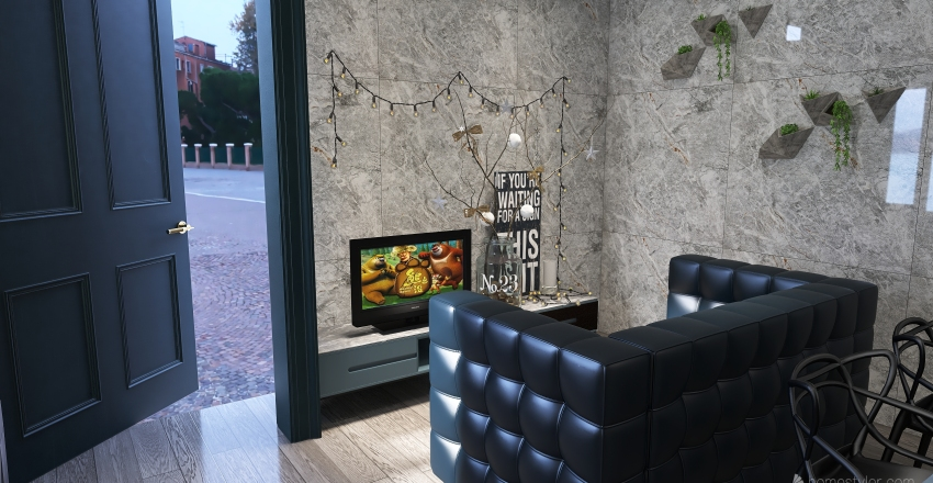 1bedroom modern  apartment.  Interior Design Render