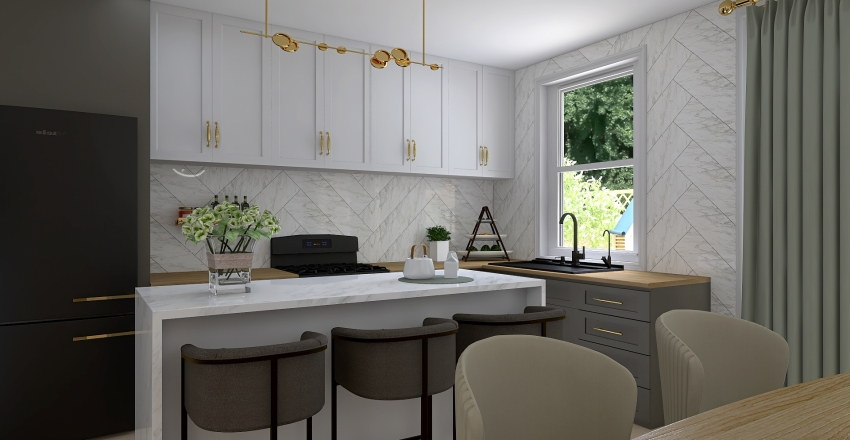 Two story house for a family Interior Design Render
