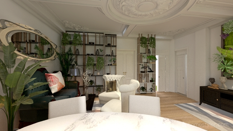salotto ally Interior Design Render