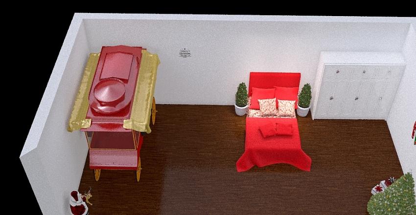 christmas lovers bedroom Interior Design Render