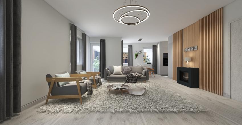 SKANDINÁV KR 5 szoba  Interior Design Render