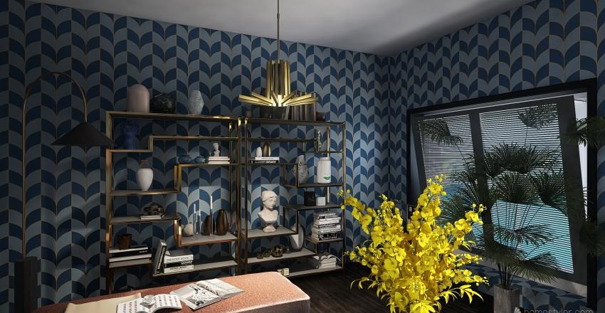 Residential - Art deco living room Interior Design Render