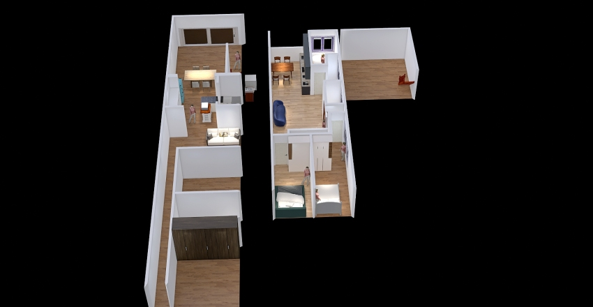 Maxi with Rooftop terrace2 Interior Design Render