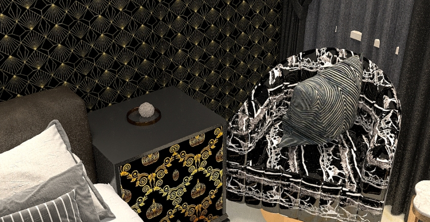 Break the rules with black Interior Design Render
