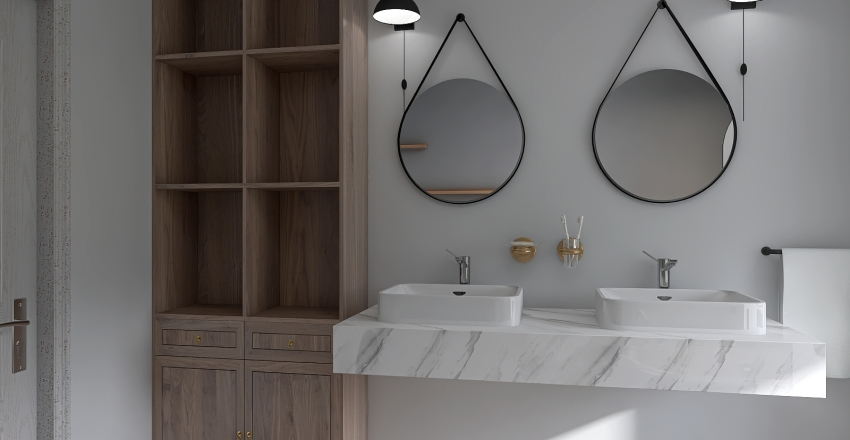 Funkcjonalna łazienka Interior Design Render