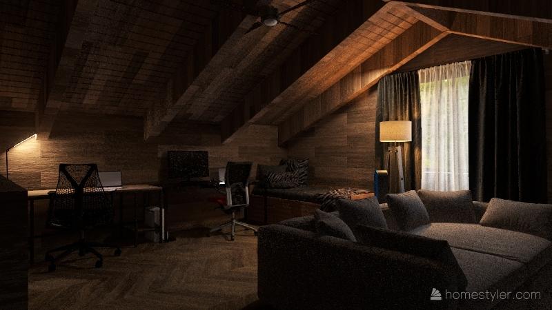 150 Tanglewood Ln Cabin Interior Design Render