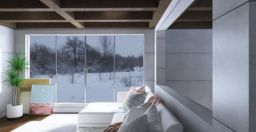 Basement Living Interior Design Render
