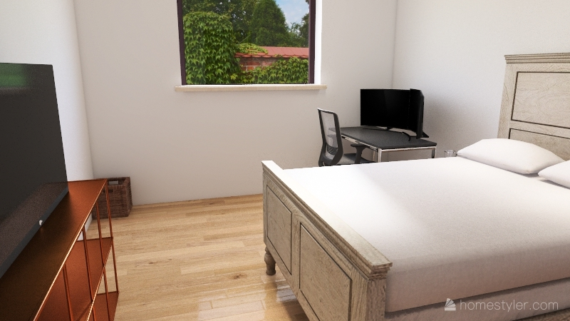Apt Bedroom Interior Design Render