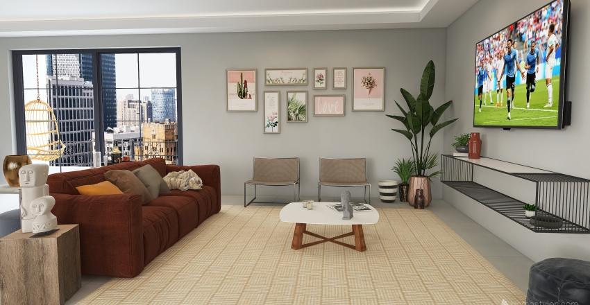 Green&Leather Interior Design Render