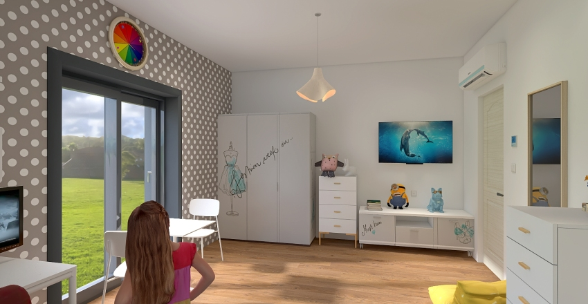 Daughters room Interior Design Render