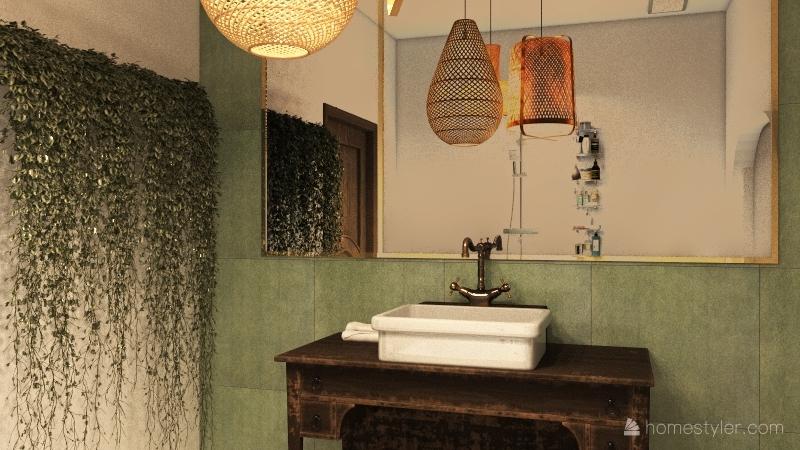 Parisian Apartment Interior Design Render