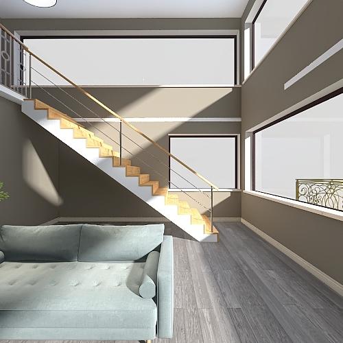 dublex house Interior Design Render