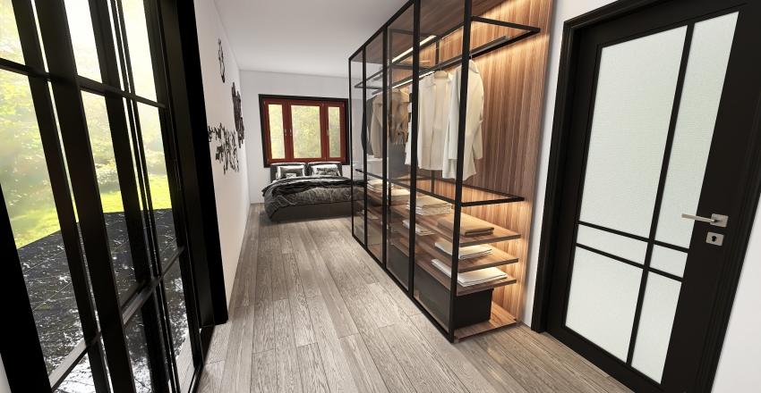 Container House Interior Design Render