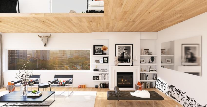Apartment loft. Interior Design Render