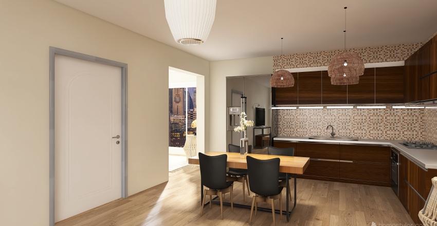 NYC Apartment- Xmas themed Interior Design Render