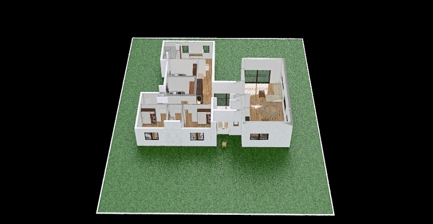frenkel house Interior Design Render