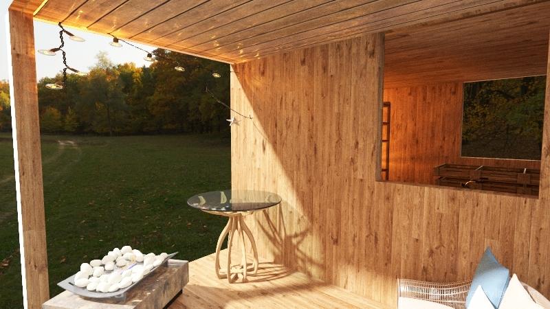 10x10 Shed/Kids Den Interior Design Render