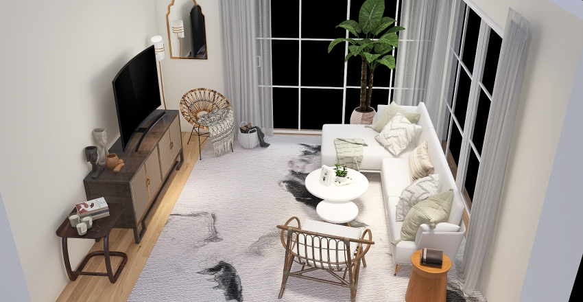 Netflix living room Interior Design Render