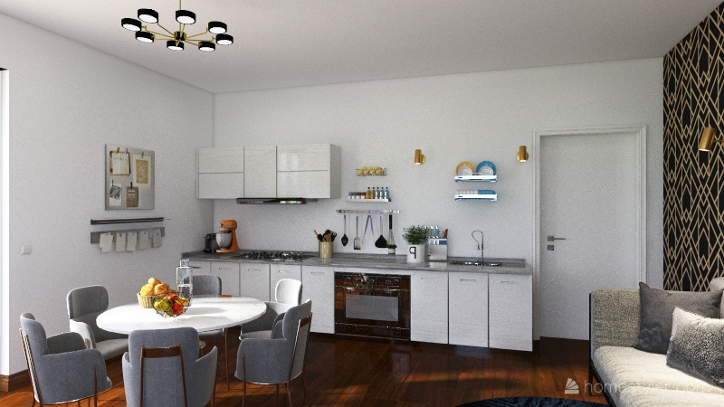 Zona giorno Interior Design Render