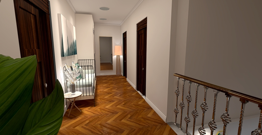 Retrò style Interior Design Render