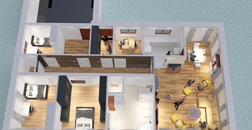 Nowy dom bez garażu Interior Design Render