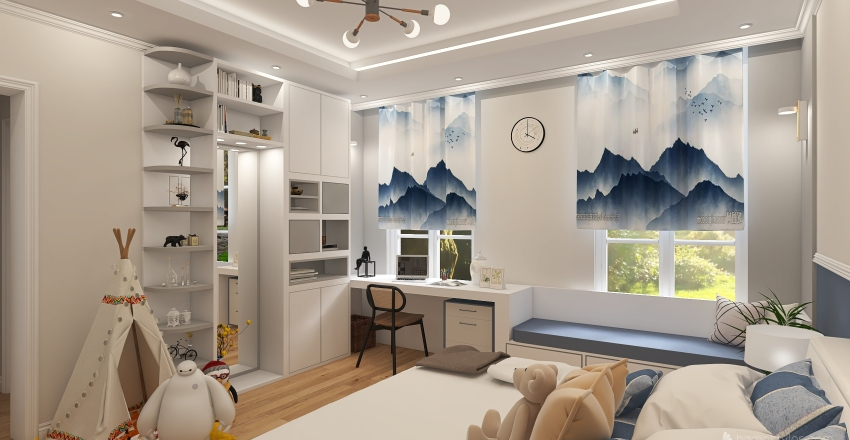 boy's bedroom Interior Design Render