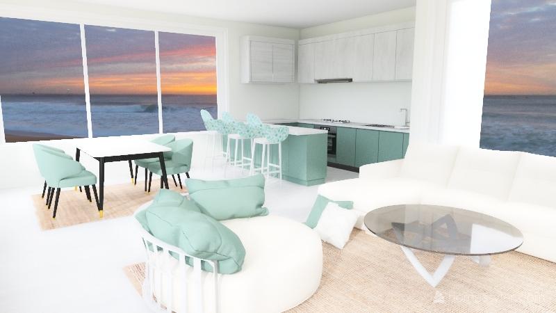 NC vacation home Interior Design Render