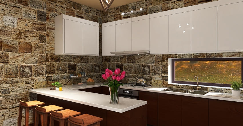 House in the country Interior Design Render