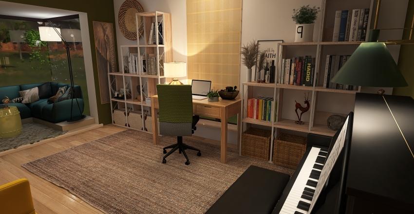 Espaço de trabalho Interior Design Render