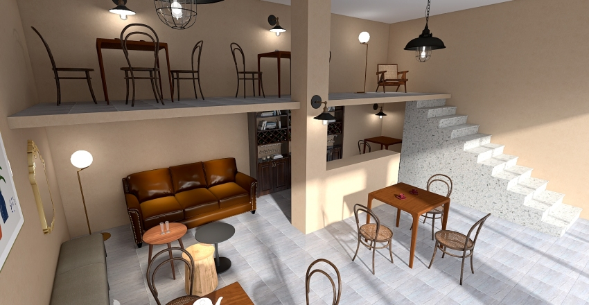Tamra Coffee Interior Design Render