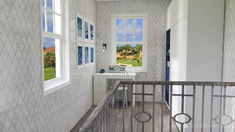 BLUE tiny house Interior Design Render