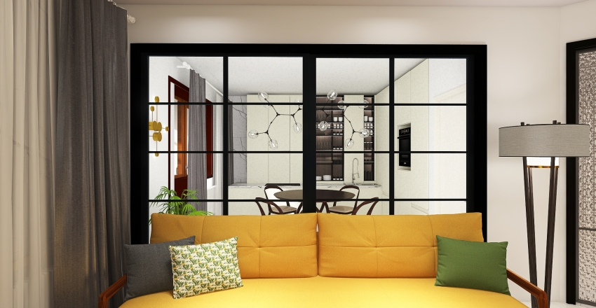 Copy of двушка плюс ПР3 Interior Design Render