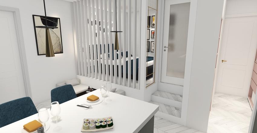 Budapest apartment Interior Design Render