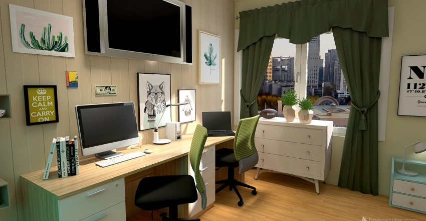 v2_room for kids Interior Design Render