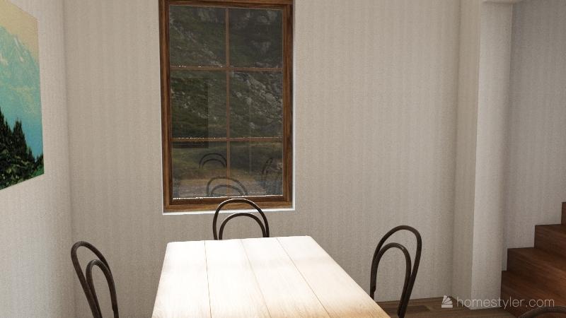 teal farmhouse first floor Interior Design Render