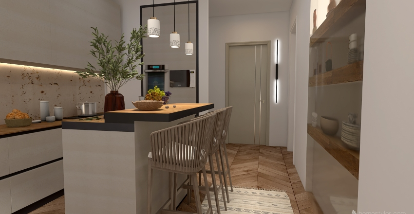 Natural Interior Design Render