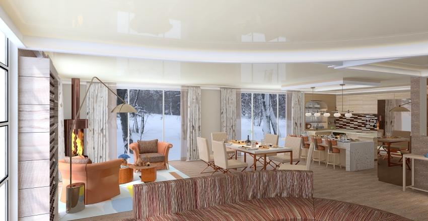villino cubico Interior Design Render