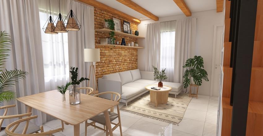 Muji Inspired Home Interior Design Render
