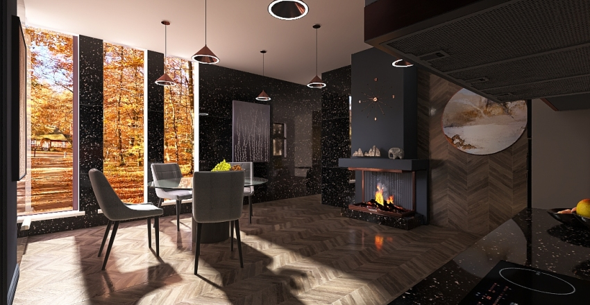 015 медь Interior Design Render
