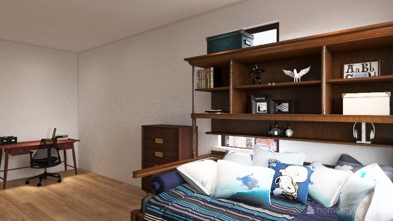 2 story cabin Interior Design Render