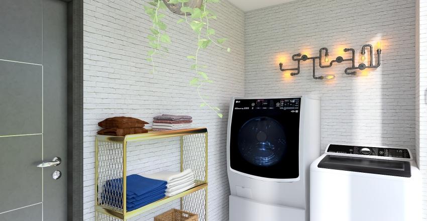 Gold&Pink Interior Design Render