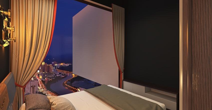 rumah minimalis 6 x 12 Interior Design Render