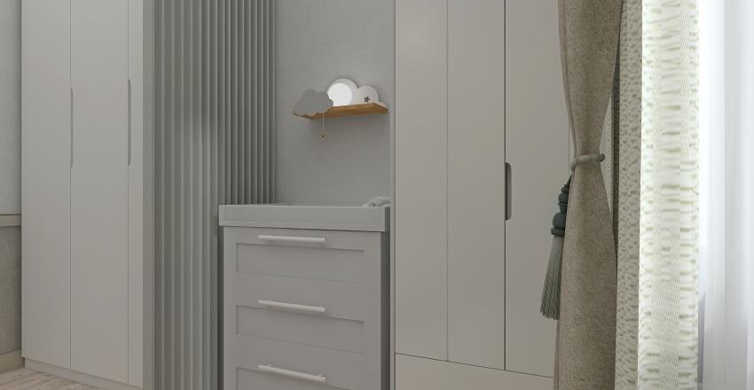 Small apartment in pastel #biege colors Interior Design Render