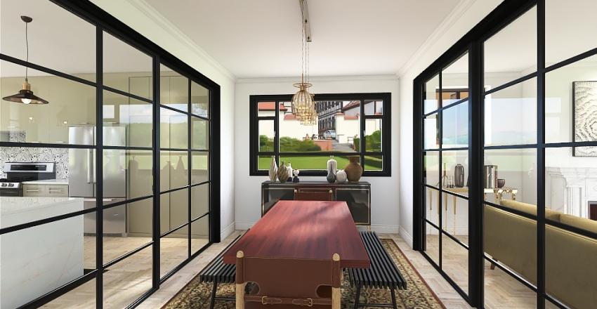 home in warm colour Interior Design Render