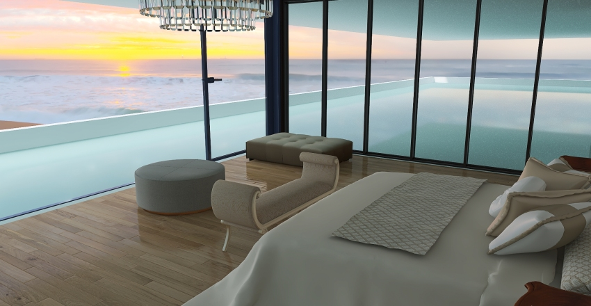 water villa Interior Design Render