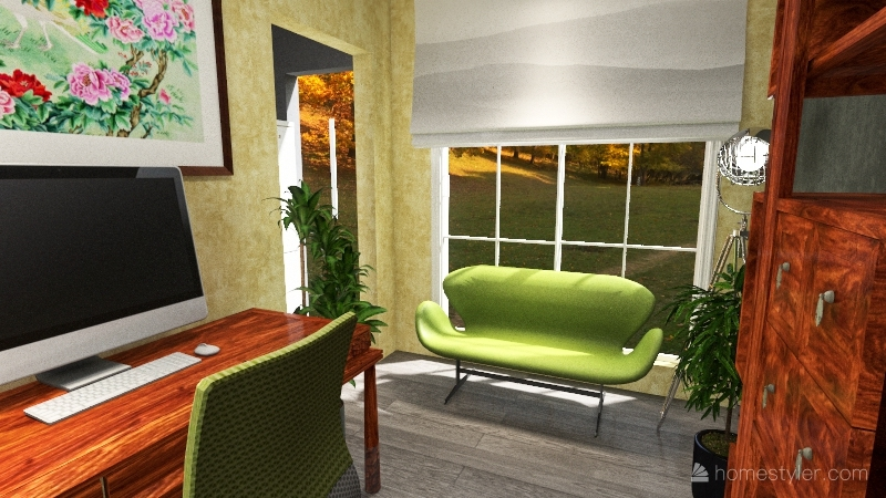 2021 & most people are working from home! Interior Design Render