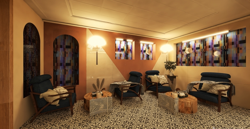 OONA vinyl cafe Interior Design Render